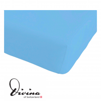 Single-Jersey-Fixleintuch Contessina bleu