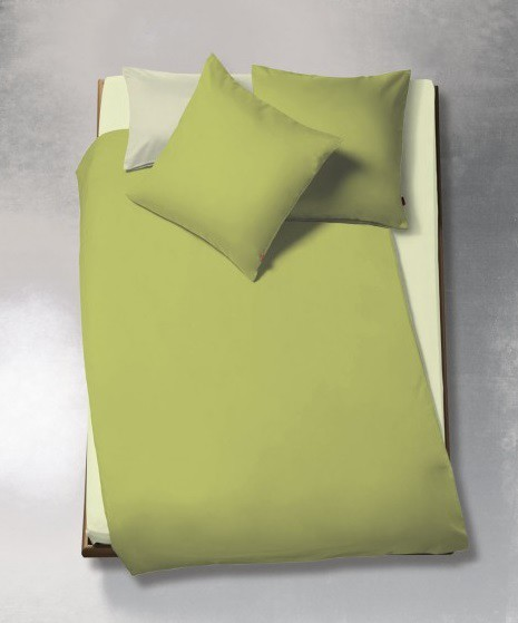Satin-Bettwäsche TopLine UNI Green