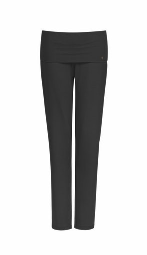 Long Pants YOGA  in Schwarz by HANRO