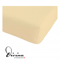 Single-Jersey-Fixleintuch Contessina beige