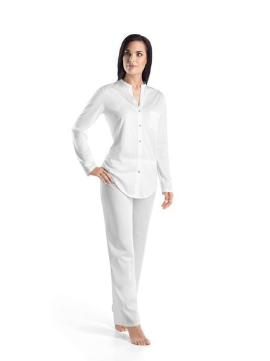 Damen-Pyjama COTTON Deluxe Weiss