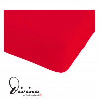 Single-Jersey-Fixleintuch Contessina rouge